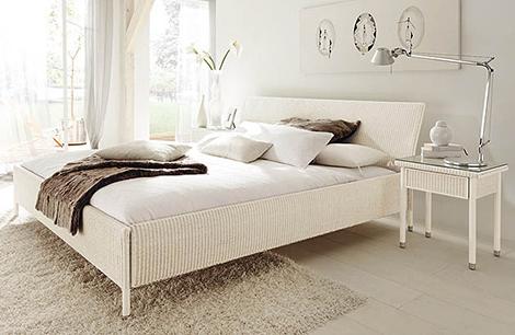 плетеная кровать фото