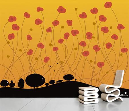обои оформление стен фото 2009
