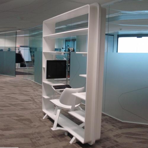 компьютерный стол с полками фото